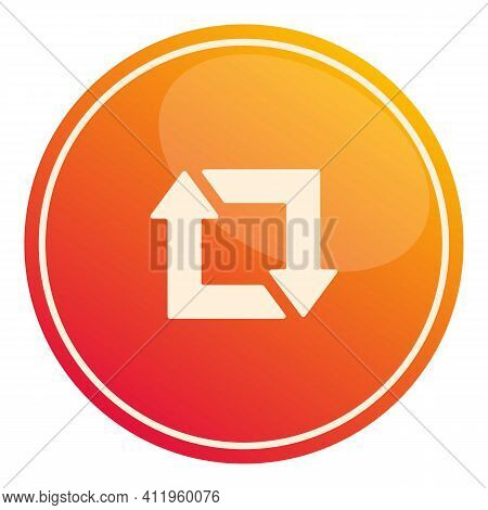 Repost Subscribe Icon. Cartoon Of Repost Subscribe Vector Icon For Web Design Isolated On White Back