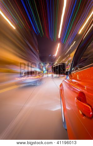 Night driving in city