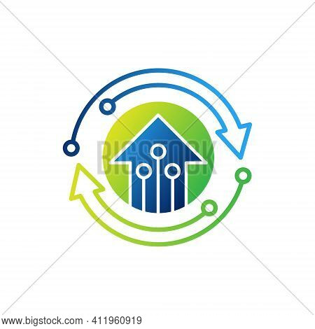 Smart Home Logo. Smart Home Connection Icon Logo Vector design illustration. Smart Home. Smart House Logo. Smart Home vector, Smart Home Logo vector, Home Logo design. Smart Home Logo icon vector. Smart Home icon isolated on white background