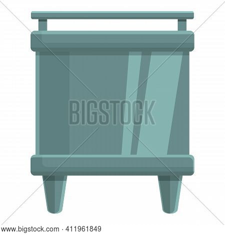 Paper Production Stove Icon. Cartoon Of Paper Production Stove Vector Icon For Web Design Isolated O