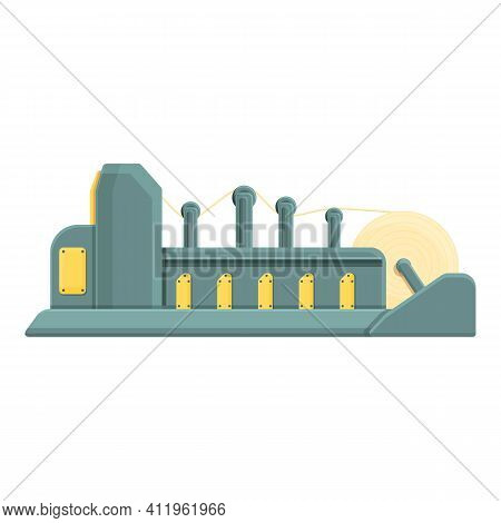 Paper Production Manufacturing Icon. Cartoon Of Paper Production Manufacturing Vector Icon For Web D