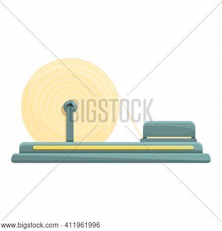 Paper Production Conveyor Icon. Cartoon Of Paper Production Conveyor Vector Icon For Web Design Isol