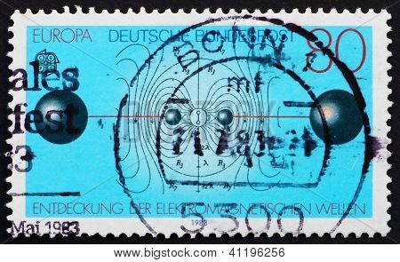 Postage Stamp Germany 1983 Discovery Of Electromagnetic Waves