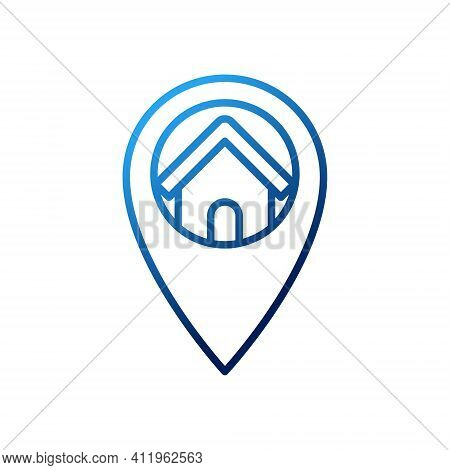 House with Location concept design. Home Location icon. Home icon. House icon. Home vector, Home icon vector, Home logo, Home symbol, Home sign, House icon vector, Home design. House Logo. House icon vector. Home icon isolated on white background
