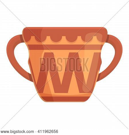Amphora Antique Icon. Cartoon Of Amphora Antique Vector Icon For Web Design Isolated On White Backgr
