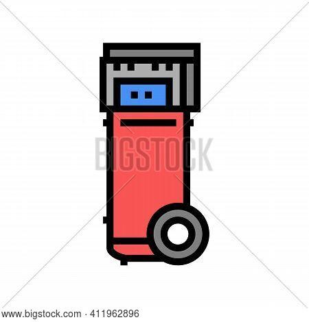 Mobile Air Compressor Color Icon Vector. Mobile Air Compressor Sign. Isolated Symbol Illustration