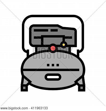 Industry Air Compressor Color Icon Vector. Industry Air Compressor Sign. Isolated Symbol Illustratio