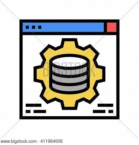 Hardware Solution Digital Processing Color Icon Vector. Hardware Solution Digital Processing Sign. I