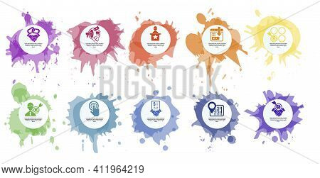 Infographic Affiliate Marketing Template. Icons In Different Colors. Include Affiliate Link, Attribu