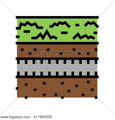 Underground Drainage System Color Icon Vector. Underground Drainage System Sign. Isolated Symbol Ill