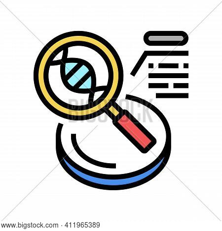 Researching Genetic Molecule Color Icon Vector. Researching Genetic Molecule Sign. Isolated Symbol I