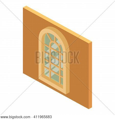 Arched Window Icon. Isometric Illustration Of Arched Window Vector Icon For Web