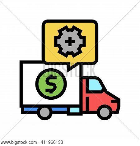 Cost Of Logistics Services Color Icon Vector. Cost Of Logistics Services Sign. Isolated Symbol Illus