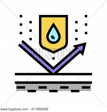 Waterproof Protect Layer Color Icon Vector. Waterproof Protect Layer Sign. Isolated Symbol Illustrat