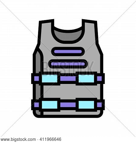 Body Armour Protect Color Icon Vector. Body Armour Protect Sign. Isolated Symbol Illustration
