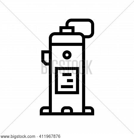 Industrial Air Compressor Line Icon Vector. Industrial Air Compressor Sign. Isolated Contour Symbol