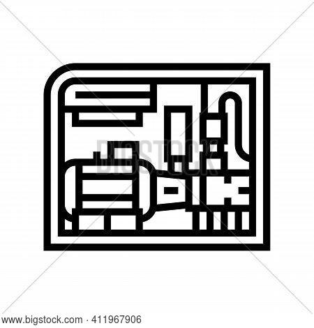 Screw Air Compressor Line Icon Vector. Screw Air Compressor Sign. Isolated Contour Symbol Black Illu