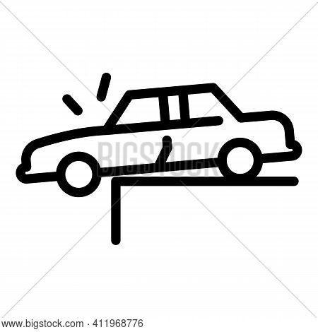 Car Accident Icon. Outline Car Accident Vector Icon For Web Design Isolated On White Background