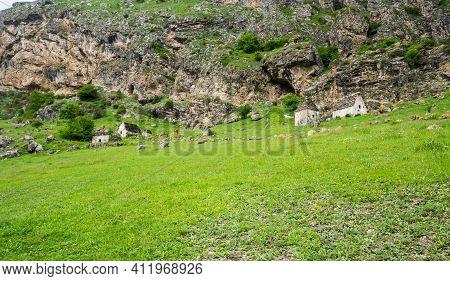 Ancient Alanian Necropolis In Dzivgis Village, North Ossetia Alania, Russia