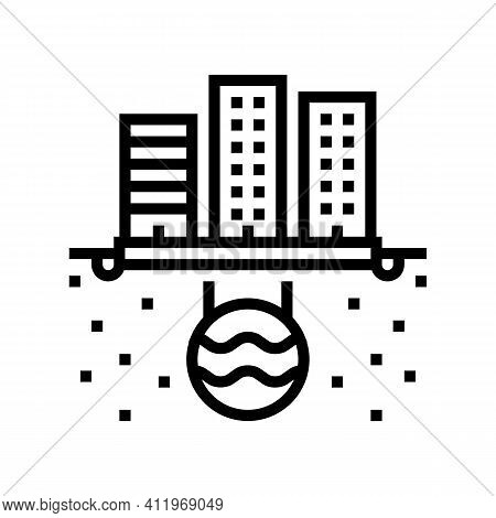 Urban Drainage System Line Icon Vector. Urban Drainage System Sign. Isolated Contour Symbol Black Il
