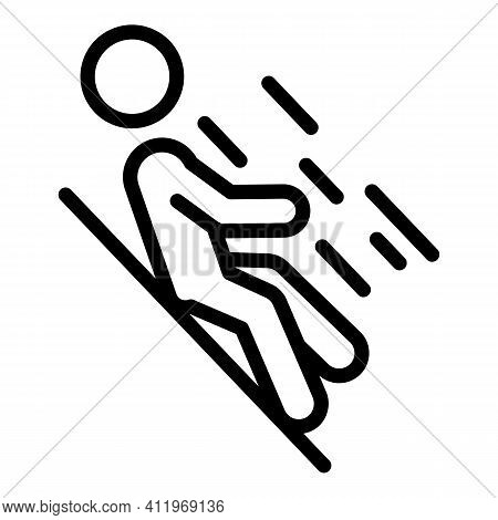 Careless Person On Ground Icon. Outline Careless Person On Ground Vector Icon For Web Design Isolate
