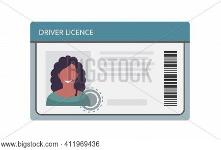 Driver Licence Icon. Driver Id Card Vector License. Driver Identity Photo.