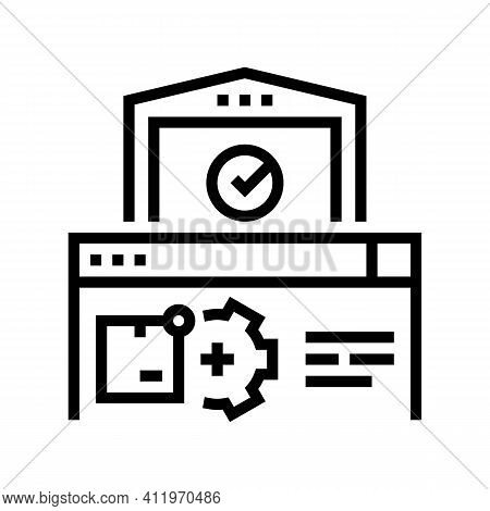 Storehouse Logistics Process Line Icon Vector. Storehouse Logistics Process Sign. Isolated Contour S