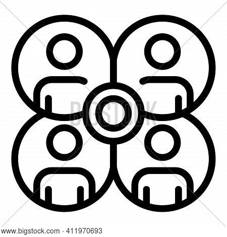Service Target Audience Icon. Outline Service Target Audience Vector Icon For Web Design Isolated On