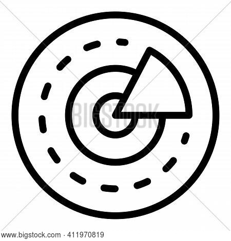 Pie Chart Target Audience Icon. Outline Pie Chart Target Audience Vector Icon For Web Design Isolate