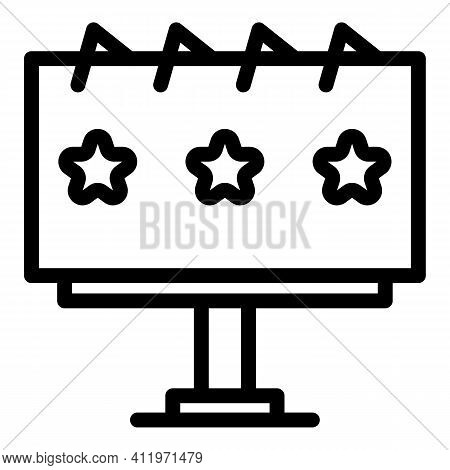 Billboard Target Audience Icon. Outline Billboard Target Audience Vector Icon For Web Design Isolate