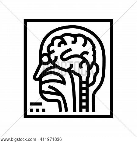 Magnetic Resonance Imaging Radiology Line Icon Vector. Magnetic Resonance Imaging Radiology Sign. Is