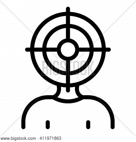 Hr Target Icon. Outline Hr Target Vector Icon For Web Design Isolated On White Background