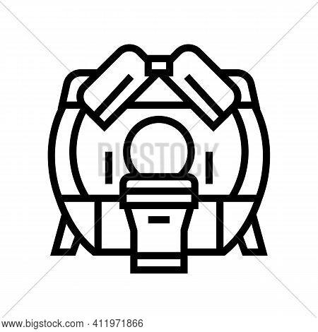 Mri Hospital Radiology Equipment Line Icon Vector. Mri Hospital Radiology Equipment Sign. Isolated C