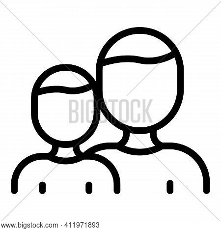 Public Target Audience Icon. Outline Public Target Audience Vector Icon For Web Design Isolated On W