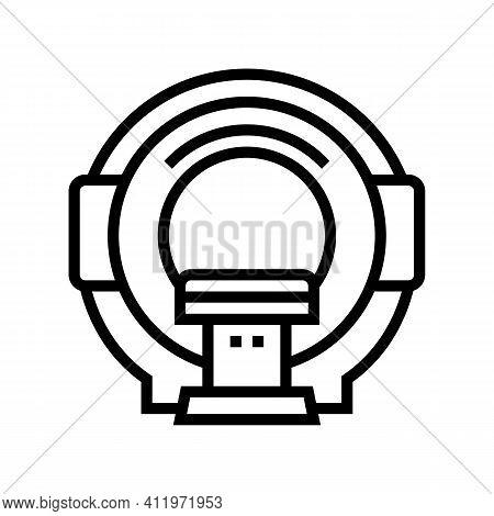 Mri Radiology Equipment Line Icon Vector. Mri Radiology Equipment Sign. Isolated Contour Symbol Blac