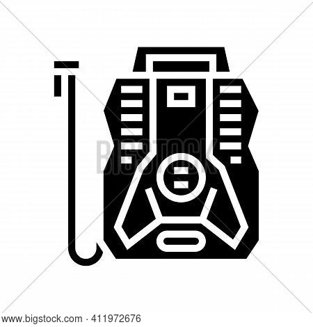 Portable Air Compressor Glyph Icon Vector. Portable Air Compressor Sign. Isolated Contour Symbol Bla