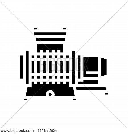 Membrane Compressor Glyph Icon Vector. Membrane Compressor Sign. Isolated Contour Symbol Black Illus