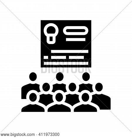 User Agreement Crowdsoursing Glyph Icon Vector. User Agreement Crowdsoursing Sign. Isolated Contour