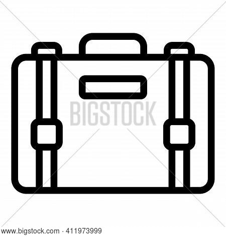 Airport Suitcase Icon. Outline Airport Suitcase Vector Icon For Web Design Isolated On White Backgro