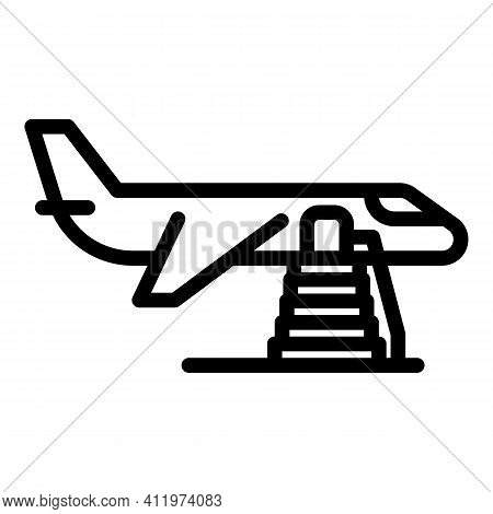 Aircraft Boarding Icon. Outline Aircraft Boarding Vector Icon For Web Design Isolated On White Backg
