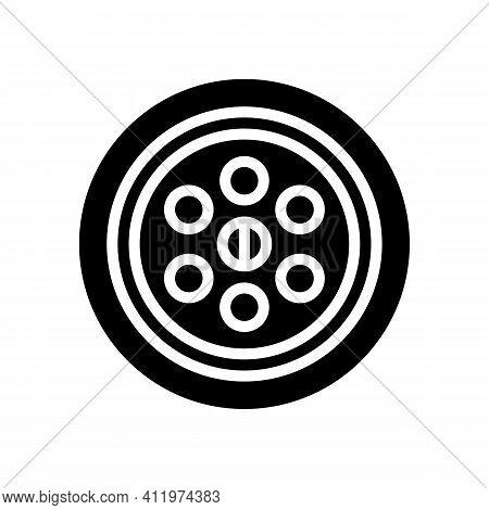 Sink Drainage Hole Glyph Icon Vector. Sink Drainage Hole Sign. Isolated Contour Symbol Black Illustr