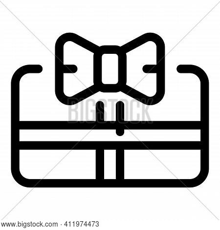 Voucher Gift Icon. Outline Voucher Gift Vector Icon For Web Design Isolated On White Background