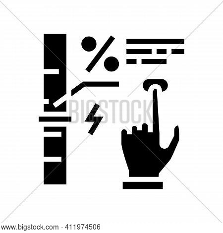 Economy And Energy Saving Glyph Icon Vector. Economy And Energy Saving Sign. Isolated Contour Symbol