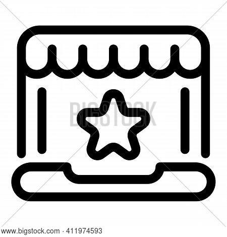 Star Online Voucher Icon. Outline Star Online Voucher Vector Icon For Web Design Isolated On White B