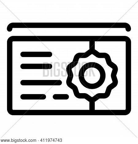 Premium Gift Voucher Icon. Outline Premium Gift Voucher Vector Icon For Web Design Isolated On White