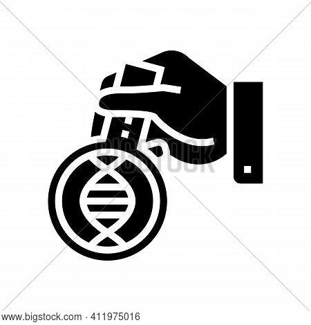 Laboratory Researching Genetic Molecule Glyph Icon Vector. Laboratory Researching Genetic Molecule S