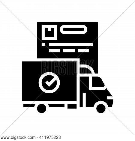 Truck Logistics Service Glyph Icon Vector. Truck Logistics Service Sign. Isolated Contour Symbol Bla