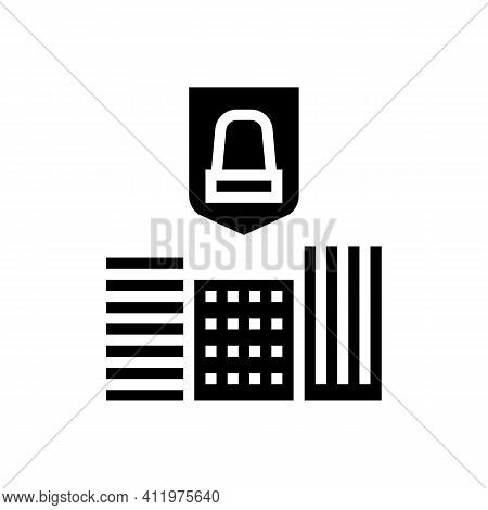 City Urban Protect Glyph Icon Vector. City Urban Protect Sign. Isolated Contour Symbol Black Illustr