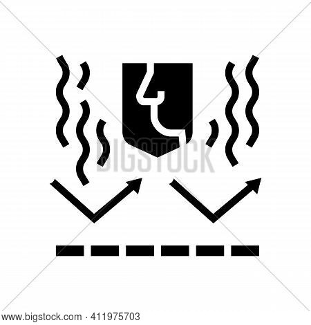 Smell Protect Layer Glyph Icon Vector. Smell Protect Layer Sign. Isolated Contour Symbol Black Illus