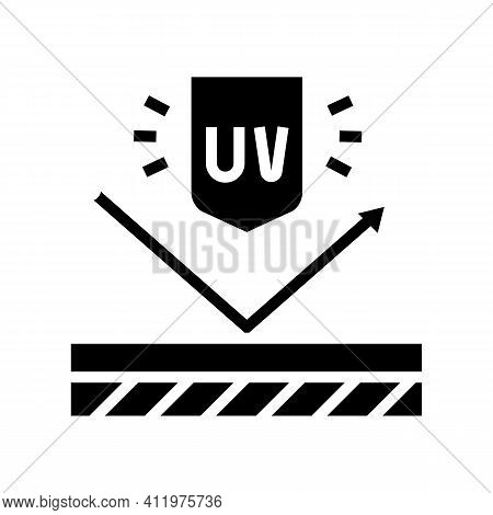 Ultra Violet Uv Protect Layer Glyph Icon Vector. Ultra Violet Uv Protect Layer Sign. Isolated Contou
